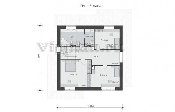 Проект двухэтажного дома с просторной